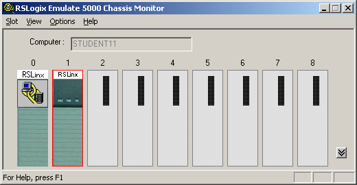 RSEmulator 01 - Empty Chassis Monitor